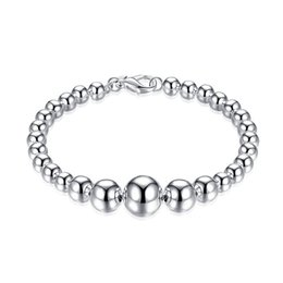 925 silver chains sets UK - High quality!Size Buddha Bracelet 925 silver bracelet JSPB165,Beast gift men and women sterling silver plated Chain link bracelets