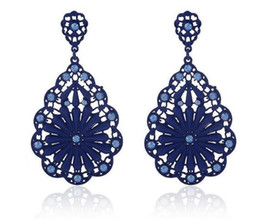 Discount paint diamond - new Hot Style Classic big brand earrings exaggerated alloy set with diamond hollowed-out pattern spray paint earrings fa