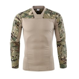 Chinese  Camouflage colors US Army Combat Uniform military shirt cargo multicam Airsoft paintball tactical cloth with Long Sleeve T Shirt manufacturers