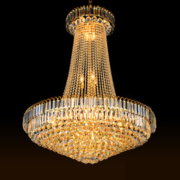 Chandelier Lobby K9 UK - Crystal chandeliers factory direct sales luxury royal high end K9 crystal chandelier hotel lobby villa stairs led chandeliers with bulbs