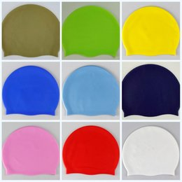 e9476e487d2 Pure Color Water Proof Swimming Hats Non Slip Silicone Swim Cap For Adult  Creative Mouldproof Bathing Caps 4 2ty jj
