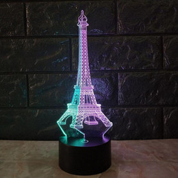 eiffel tower christmas decorations australia eiffel tower 3d visual night light seven color touch charging