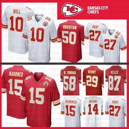 ... reduced 10 tyreek hill 15 patrick mahomes ii kansas city chiefs jersey  58 derrick thomas 50 ... ef9755a90