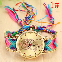 512a84301 Sloggi National Wind Mujeres Relojes Tejido Dream Catcher Pulsera Reloj  Napel Vintage Hecho A Mano DIY Relojes Horloges Vrouwen