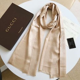 Wholesale Brand Designer Winter Silk Scarves Luxury Fashion Silk Wraps for Men and Women Kids Christmas Gift Fashion Accessories