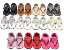 open baby sandals 2019 - 200pair baby ins Soft bottom sandals Summer kids flip flops PU Infant open toe Sandals baby First Walkers shoes Y211 che