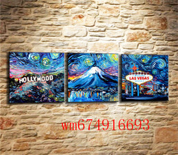 painting mounting NZ - Van Gogh Hollywood ,Mount , 3PC Pieces Home Decor HD Printed Modern Art Painting on Canvas (Unframed Framed)