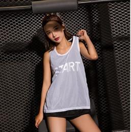 women gym clothing brands 2019 - women mesh yoga vext double Sleeveless  Tank Tops Women Fitness f8e0e9e4e
