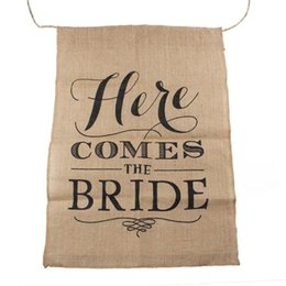 $enCountryForm.capitalKeyWord Australia - HERE COMES THE BRIDE Burlap Bunting Banners Garland Kit for Vintage Rustic Wedding Backdrop Decoration