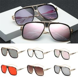 Wholesale Women Men Summer Travel Sunglasses Fashion Vintage Men Glasses Big Metal frame Sunglasses Bicycle Sun Glasses Cycling AT16