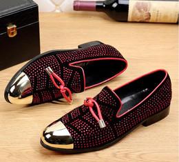 $enCountryForm.capitalKeyWord Australia - Designer Slides Men's luxury leather leisure fashion leisure suit black leather shoes men wedding shoe golden tassels men slippers nx18