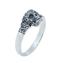 top indian girls NZ - Free Shipping Size 6-10 Lady Girls 925 Sterling Silver Ring Jewelry Newest S925 Top Quality Sparta Skull Ring