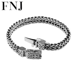 $enCountryForm.capitalKeyWord Australia - 100% 925 Silver Bracelet Anchor Width 8mm Classic Wire-cable Link Chain S925 Thai Silver Bracelets for Women Men Jewelry Y1891709