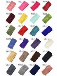 Knitting for hair online shopping - European and American autumn winter knitted turban headbands winter warm crochet head wrap ear warmer hairband hair accessories for women