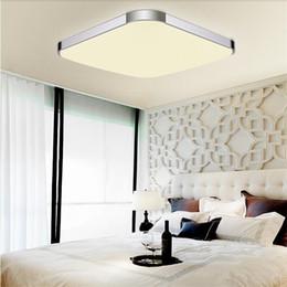 Dimmable moderno levou luzes de teto iphone acrílico teto luminária para cozinha crianças quarto casa decoração AC85-265V