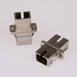10PCS / sac adaptateur SC vers SC mode simplex mode adaptateur fibre optique coupleur de fibre optique connecteur à bride SC-SC vente en gros