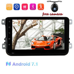 cams for phones NZ - Android 7.1 Double DIN Car GPS Navigator For Volkswagen 8'' Blutooth WIFI USB OBD 3G 4G Phone Mirror link SWC Canbus CAM-IN