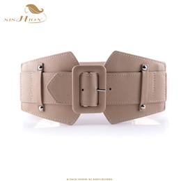 vintage elastic belt 2019 - SISHION Vintage Wide Belts for Women Famous Brand Designer Elastic Party Belts Women's Red Camel Black Costume VB0007 ch