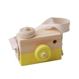 Children Toy Camera Australia - Wooden Camera Kids Toy Baby Gift Children Wood Neck Decor Room Photography @ZJF