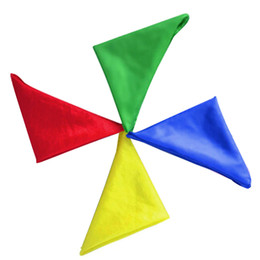Stage trick magic propS online shopping - Four color Silk Scarf Color Change Silk Scarf Stage Magic Tricks Props Funny Novelty Stage Props Children Adult Toy