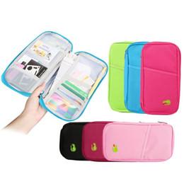 PassPort tyPes online shopping - New Colors Passport Credit ID Card Wallet Purse Holder Case Document Travel Pocket Jogging Storage Bag Backpacks Gadgets Closet Organizer