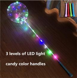 Vente en gros Avec poignée LED boule bobo allumer ballons bobo 3 m led lumières chaîne transparente ballons bobo clair LED Gadget livraison gratuite