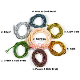 gold fishing jigs 2018 - flash minnow [ 2Pack  4m] Holographic Mylar Cord Gold Silver Pearl Flashabou Minnow Body Braid Flash Tubing for Fish Fly