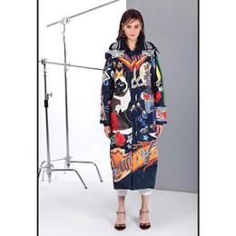 Опт Новая мода женская длинная куртка с длинным рукавом с принтом животных
