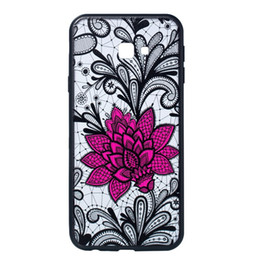 $enCountryForm.capitalKeyWord UK - Lace Lotus Flower TPU PC Case For Huawei Mate 20 Pro Samsung J2 Core J4 Prime J6 Plus Floral Mandala Lace Paisley Henna Skin Cover 20pcs