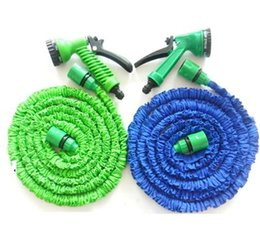 plastic water piping NZ - Garden Hose Expanding Magic Flexible Watering Hose Plastic Hoses Pipe With Spray Gun Tube Hoses 50FT Garden Water Hose KKA1871