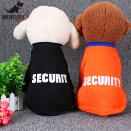 Springs Security Canada - Onewellpet Brand High Quality Cotton T-shirt Of Two Colors With And English Word Of Security For Teddy And Other Pet Dogs