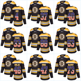 f35fc759c Womens 37 Patrice Bergeron USA Flag Stitched Boston Bruins 33 Zdeno Chara  88 David Pastrnak 46 David Krejci 40 Tuukka Rask Hockey jerseys