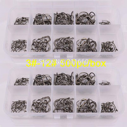 $enCountryForm.capitalKeyWord Australia - 500Pcs Box fishing tackle 3#-12# single hook High Qulity Fishing Hook black color Jig Big Treble Hooks Free Ship
