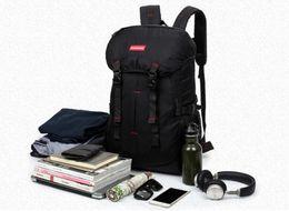 Large canvas duffeL bags online shopping - Outdoor Men and women large capacity backpack number new big shoulder bag monochrome hiking bag outdoor bag backpack