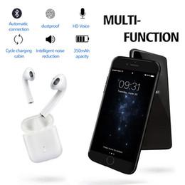 Discount wireless headphones dhl - Wholesale Free DHL LK-TE8 Bluetooth Earphones Wireless Earbuds V5.0 Wireless Bluetooth Headphones Cycle Charging Cabin W