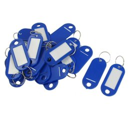 $enCountryForm.capitalKeyWord NZ - 20 Pcs Key ID Label Tags Split Ring Keyring Keychain Blue