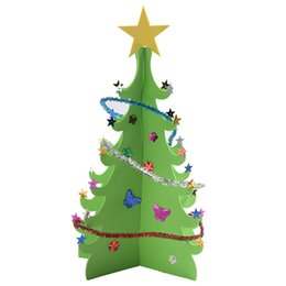 $enCountryForm.capitalKeyWord UK - Sequins Christmas Tree Creative DIY Merry Christmas Xmas Blessing Table Decoration For New Year Gift 3D 2 Colors