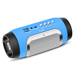 China C65 wireless bluetooth 4.0 mini portable speaker stereo hd 3d surround speakers supper bass subwoofer supply radio TF CARD AUX play supplier audio 3d usb suppliers
