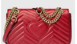 $enCountryForm.capitalKeyWord Australia - 2018 women luxury Classic Leather heart style gold chain hot sell 2018 new women bags handbags shoulder bags tote bags messenger handbags
