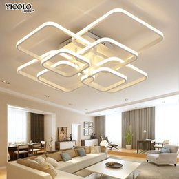 $enCountryForm.capitalKeyWord NZ - modern led chandelier with remote control acrylic lights For Living Room Bedroom Home Chandelier ceiling Fixtures Free Shipping