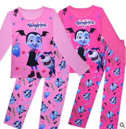 a1403e1a49 character pajamas for kids 2019 - Children Cartoon Vampirina Pajamas Set  Girls Spring Fall Vampire Cartoon