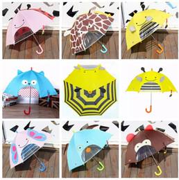 Children Gear NZ - Children Lovely Cartoon Animals Umbrella For Kids Gear High Quality Function Umbrella Light 7 Styles Optional 100pcs