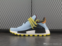 32c705949 Newest Pharrell Williams NMD Hu Inspiration Pack Running Shoes Clear Sky  Black Orange Authentic High Quality Sports Sneakers With Box EE7579