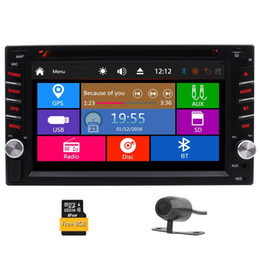 "Rearview Screen NZ - Car Rearview Camera+Double Din 6.2"" Dash Stereo Car Receiver Audio Video Player Bluetooth FM AM RDS Radio car DVD TF USB Subwoofer"