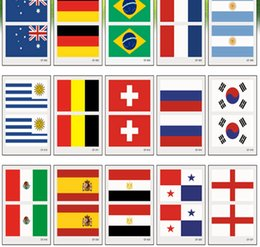 Wholesale 2018 World Cup National Banner Flags Tattoo Fans Face Body Sticker Arm Face Wrist Body Stickers DDA102