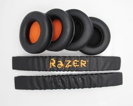 pad cushion for headphone 2019 - Replacement Headband Cushion Pad & Ear Pads Cushions Cover For Razer Kraken 7.1 Pro Gaming Headphones Headsets cheap pad