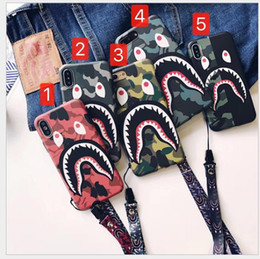 $enCountryForm.capitalKeyWord Canada - Fashion Shark Case For Iphone 6 6S 7 8 Plus Shark Cartoon case TPU Mobile Phone Case Cover For Iphone 8 X XS XR Max Accessories Best Price