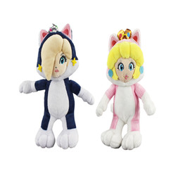 "Discount doll cats - Hot Sale 8"" 20cm Daisy Rosalina Princess Cat Super Mario Bros Plush Stuffed Doll Toy For Kids Best Holiday Gifts"