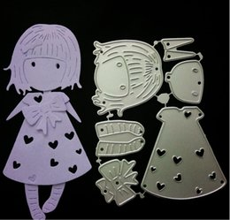 Discount hair cutting girl - scrapbook Diy Embossing Mould Long Hair Girl Steel Cutting Moulds Paper Crafts Handmade tool decor mould FFA766