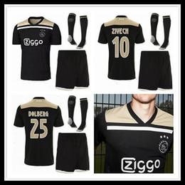 1191f79f904 Top quality 2018 2019 new Ajax FC Away Soccer Jerseys uniforms 18 19  DOLBERG ZIYECH HUNTELAAR YOUNES MEN Ajax Football Shirt kit